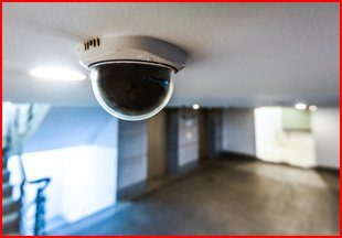 A ceiling-mounted camera