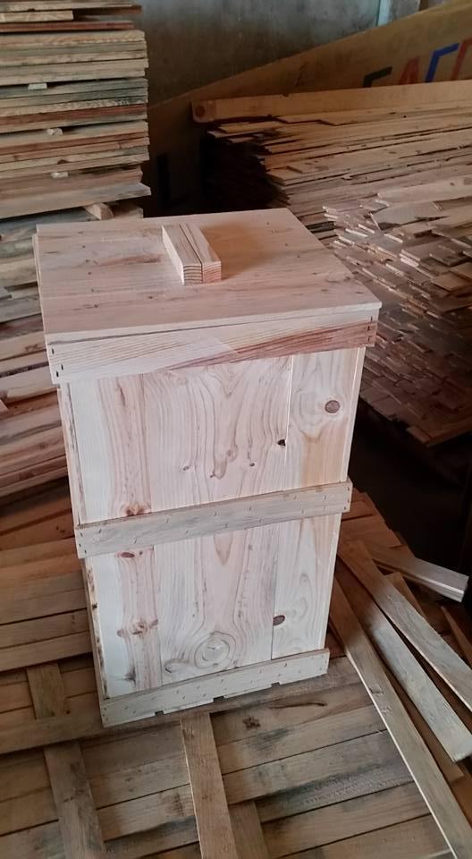 bidone in legno