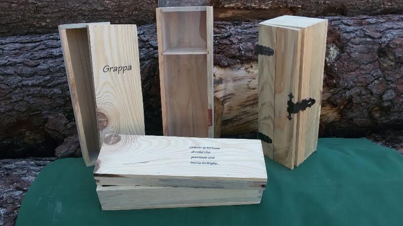 cassette in legno massello