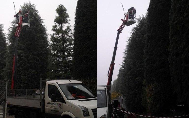 Potature alberi con piattaforme aeree