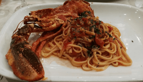 spaghetti e astice, spaghetti di pesce, zuppa di pesce