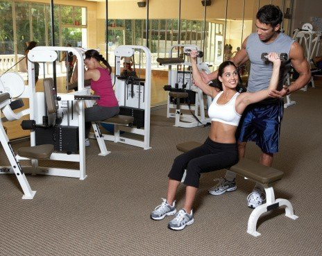 professional cleaning service, fitness center