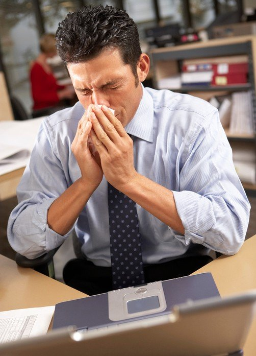 winter illness, cold, flu season, office, work, work life, professional cleaning