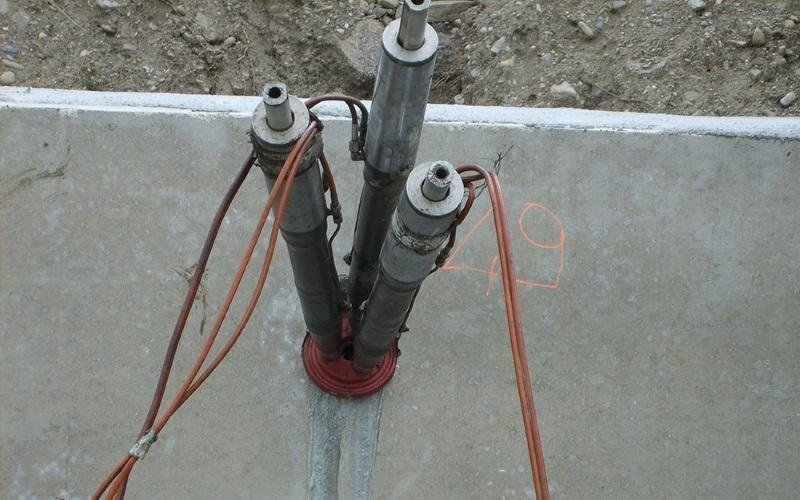 piling tie rods