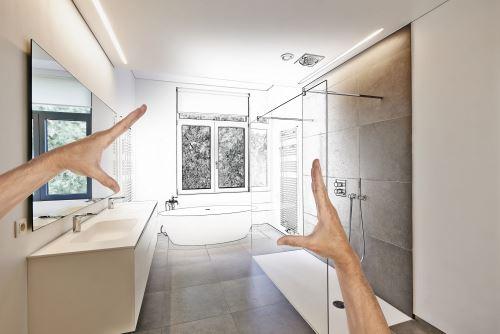 progetto di un bagno ristrutturato