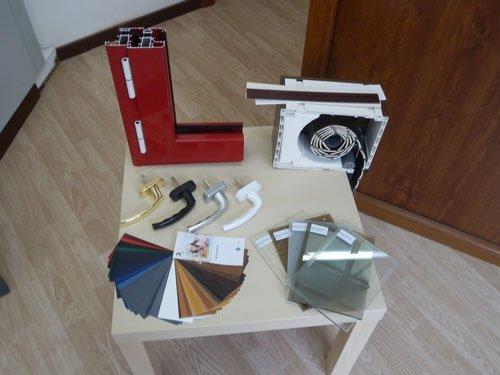 delle guide per finestre,maniglie,vetri e esempi di colore