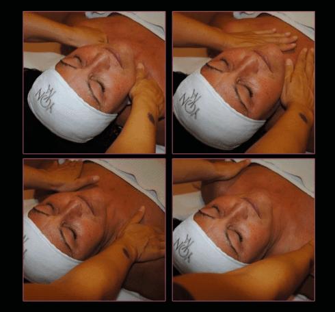 Il trattamento termina con alcuni massaggi distensivi nella zona della scollatura.