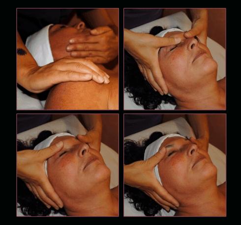 Massaggio al viso.