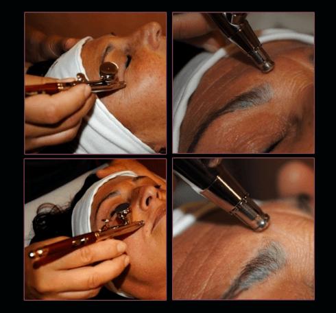 Passaggi del trattamento Oxigena contro l invecchiamento della pelle.
