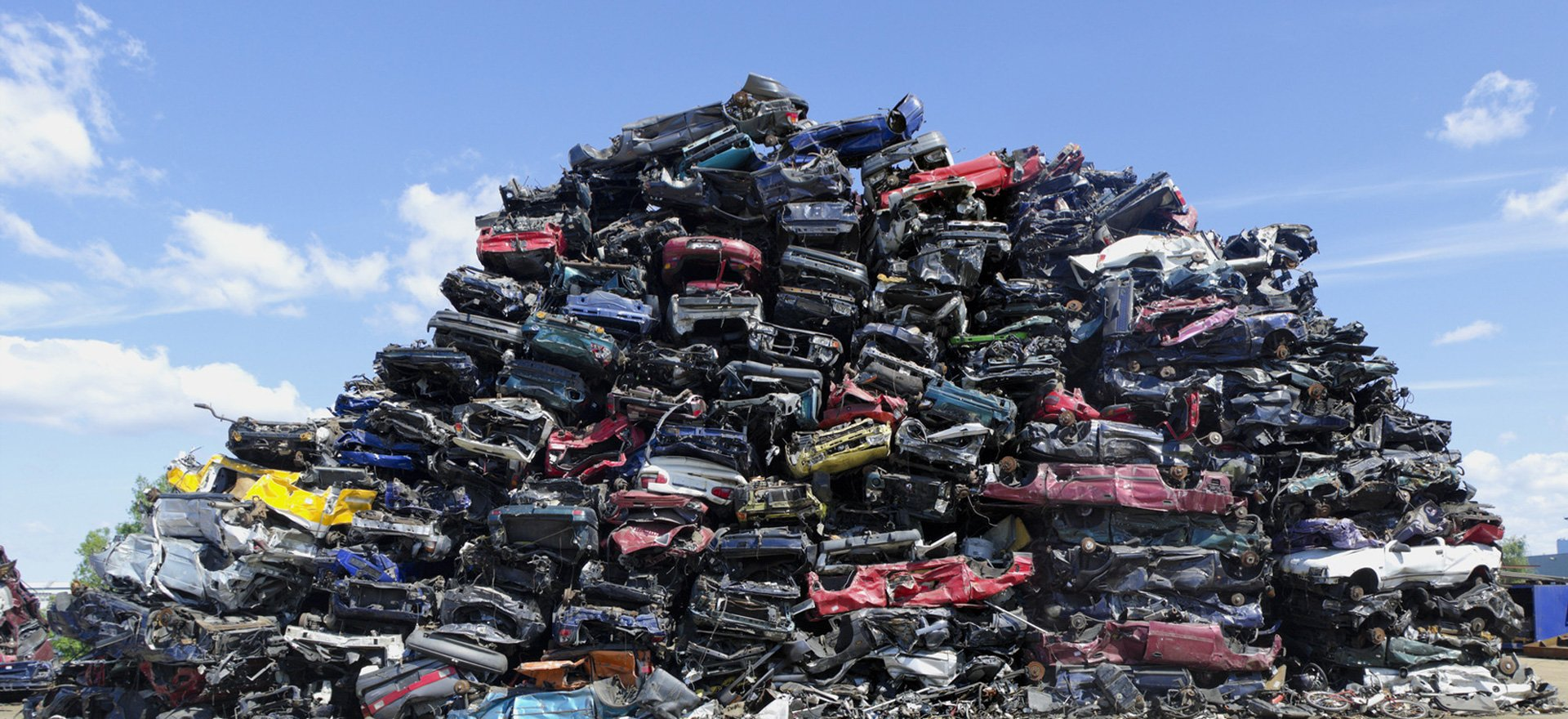 stack of old cars