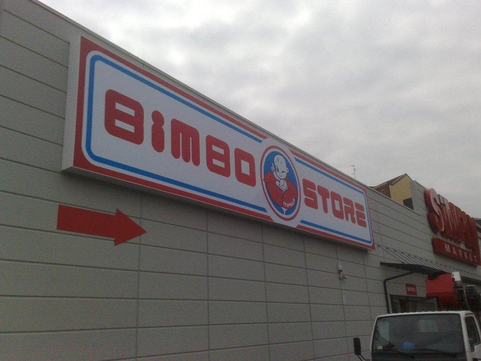 Insegna a telo tensionato Bimbo Store