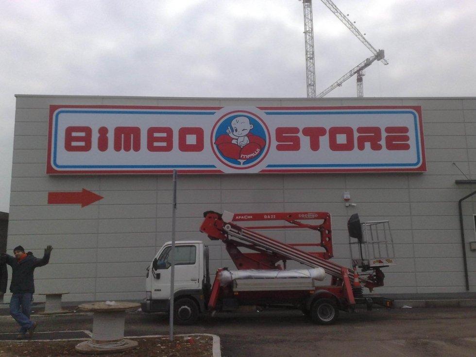 Insegna telo tensionato frontale Bimbo Store