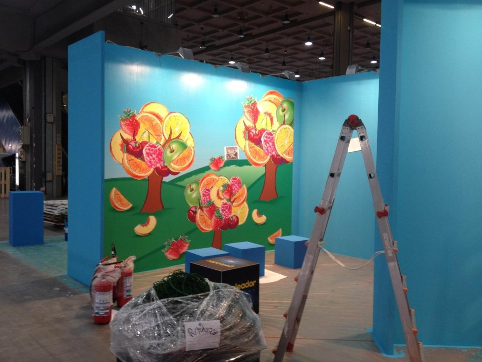 Exhibition stand decoration