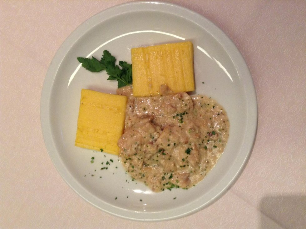 Venetian salted codfish with polenta