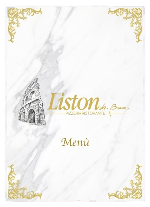 MENU PIZZERIA LISTON