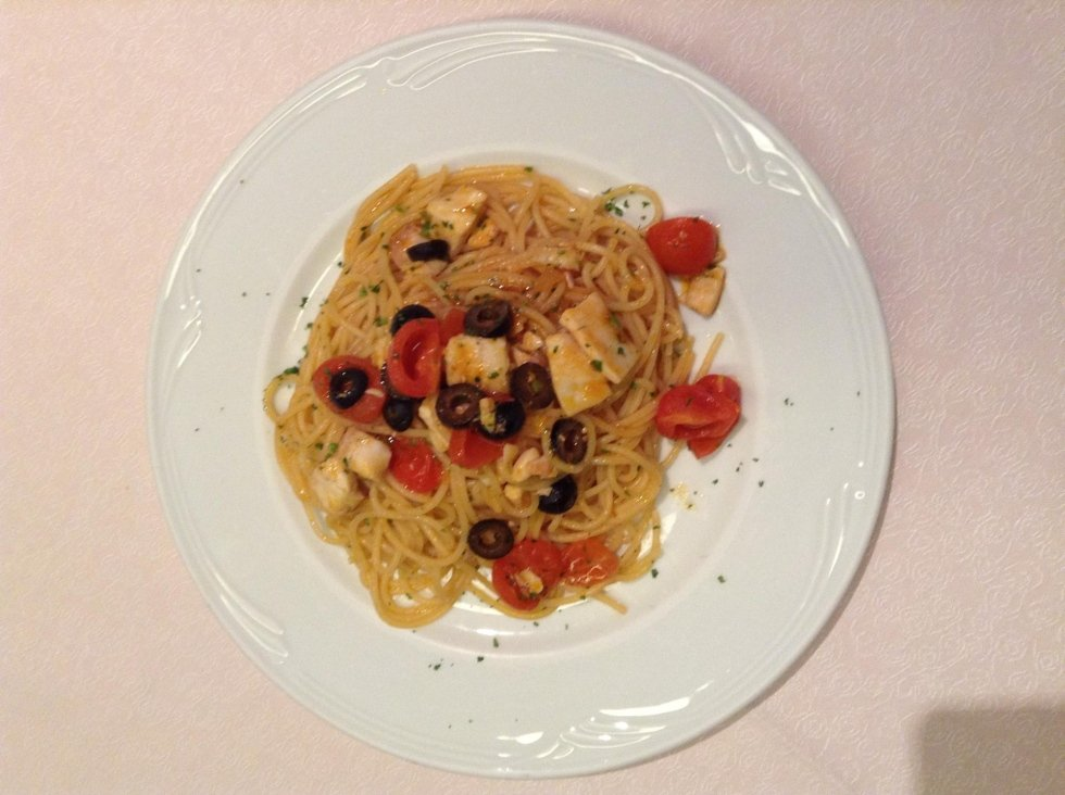 Spaghetti with shellfish
