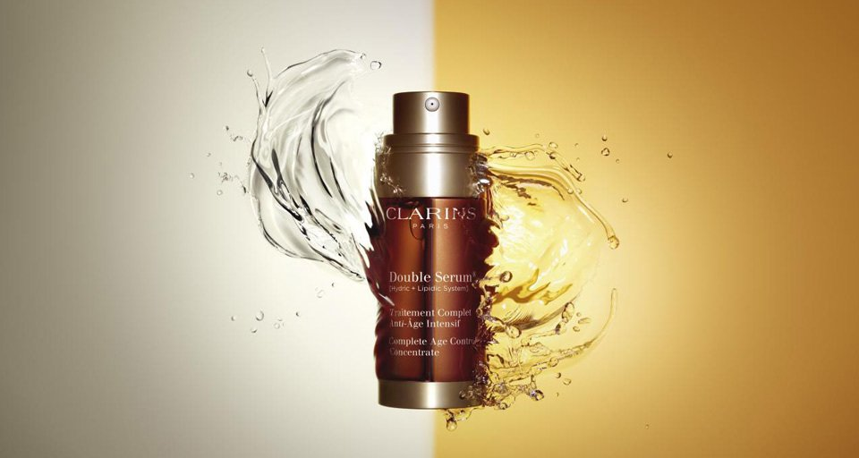 clarins double serum pack shot