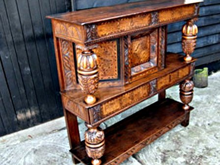 old wooden stand