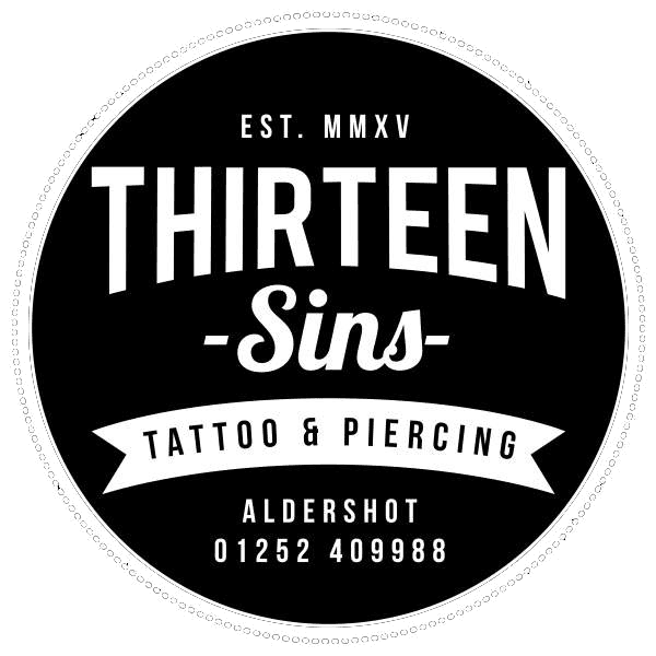Thirteen Sins Tattoo logo