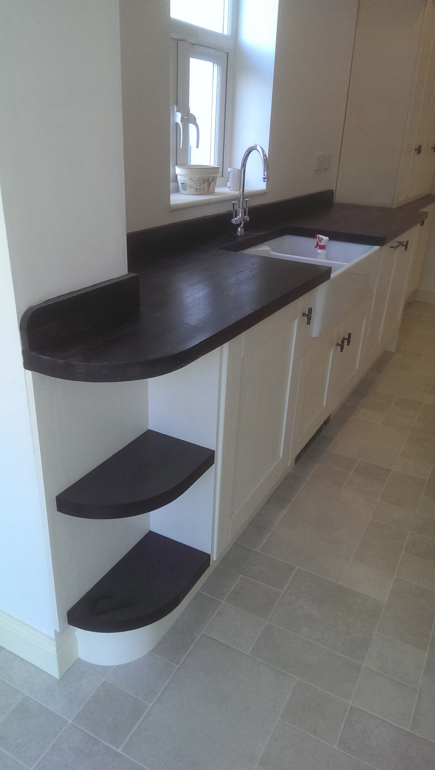 wooden worktop in the kitchen