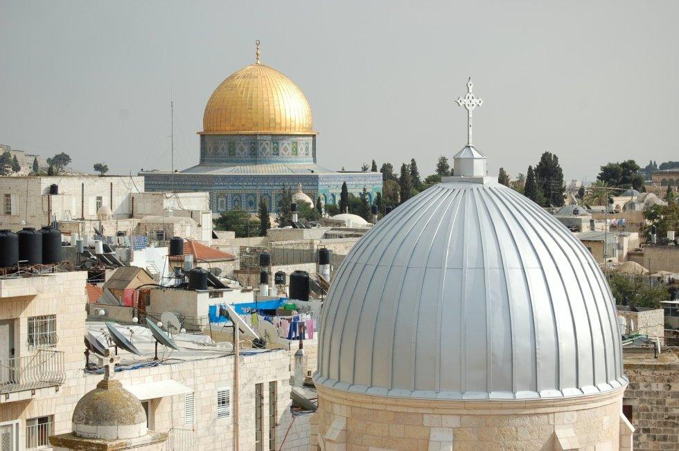 Copertura chiesa Gerusalemme DOPO - Alluminio silver