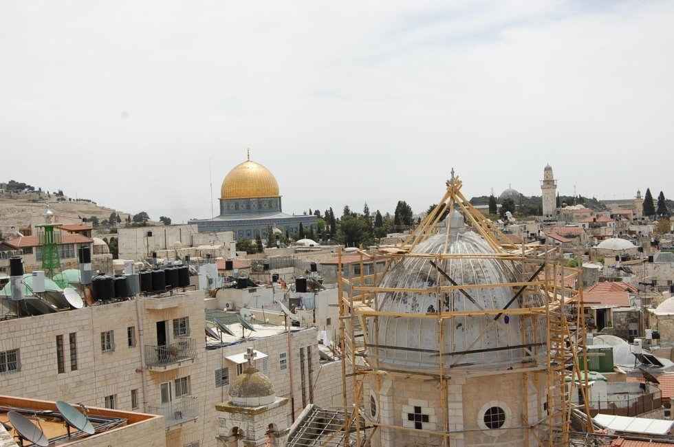 Copertura chiesa Gerusalemme PRIMA - Alluminio silver