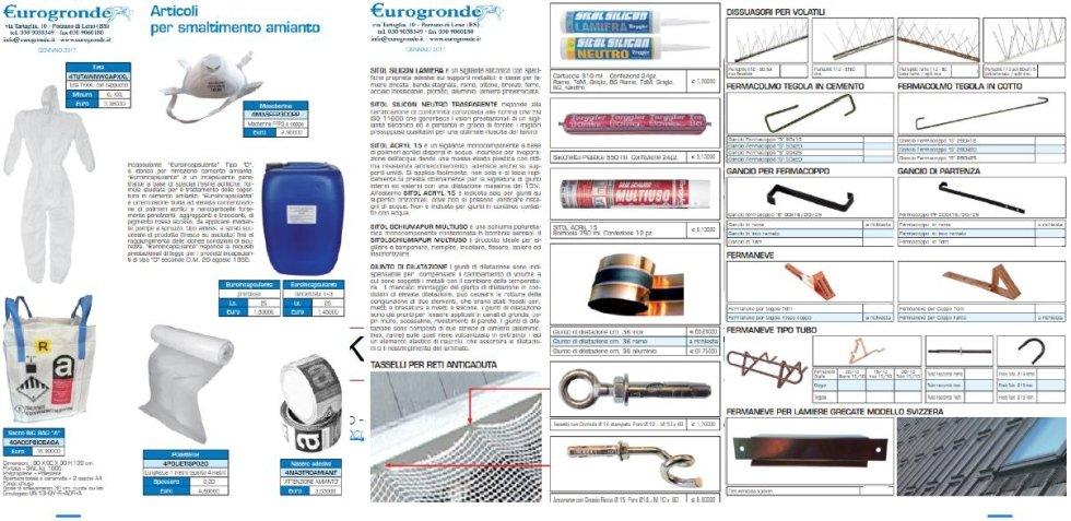 Viti e accessori per coperure e smaltimento amianto