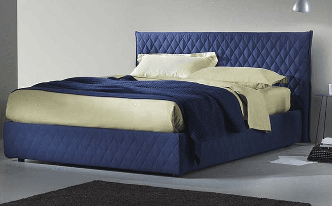letto blu