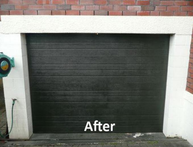 Garage door after repairing