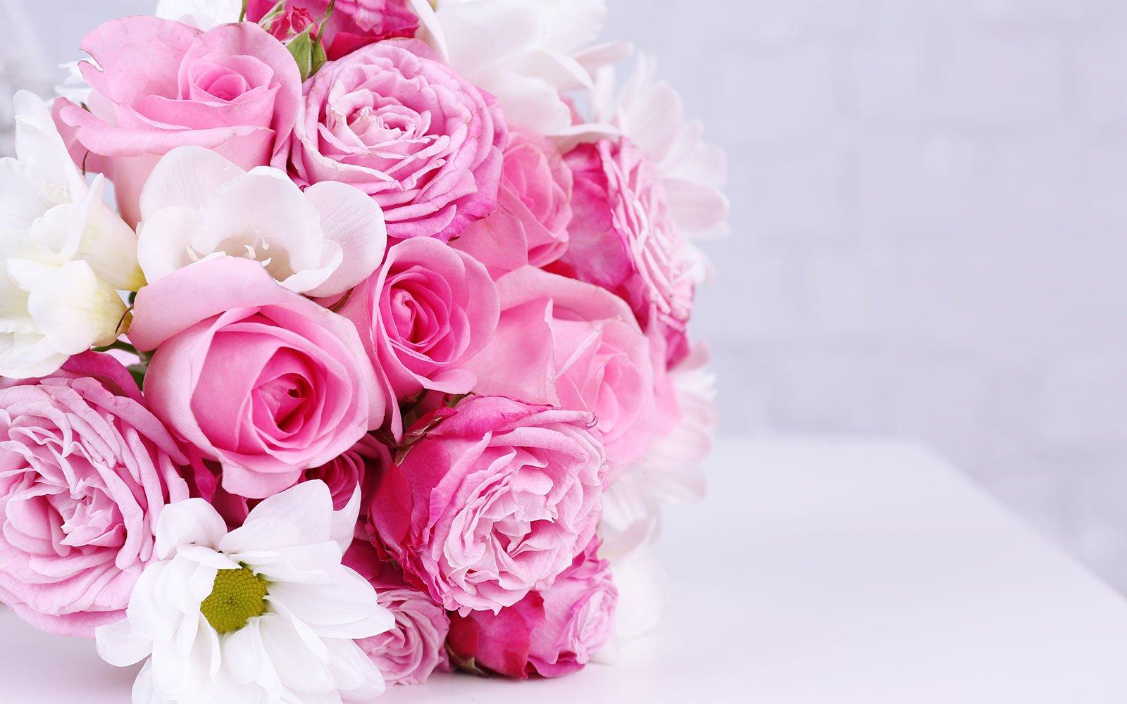 Delle rose di color rosa