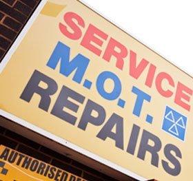 Service, MOT, Repairs board image