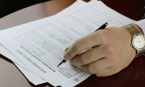 Filling a claims document