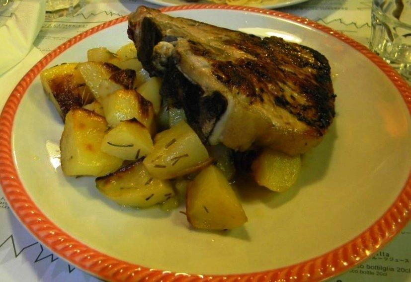 verdure grigliate e patate lesse