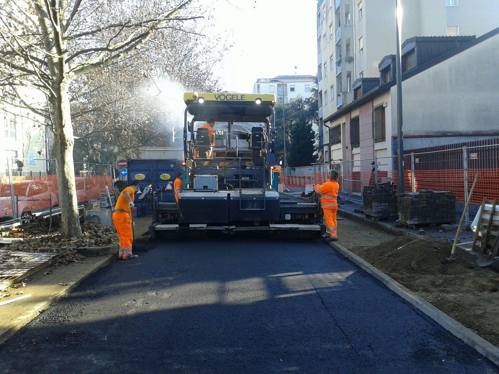 asfalto su strada