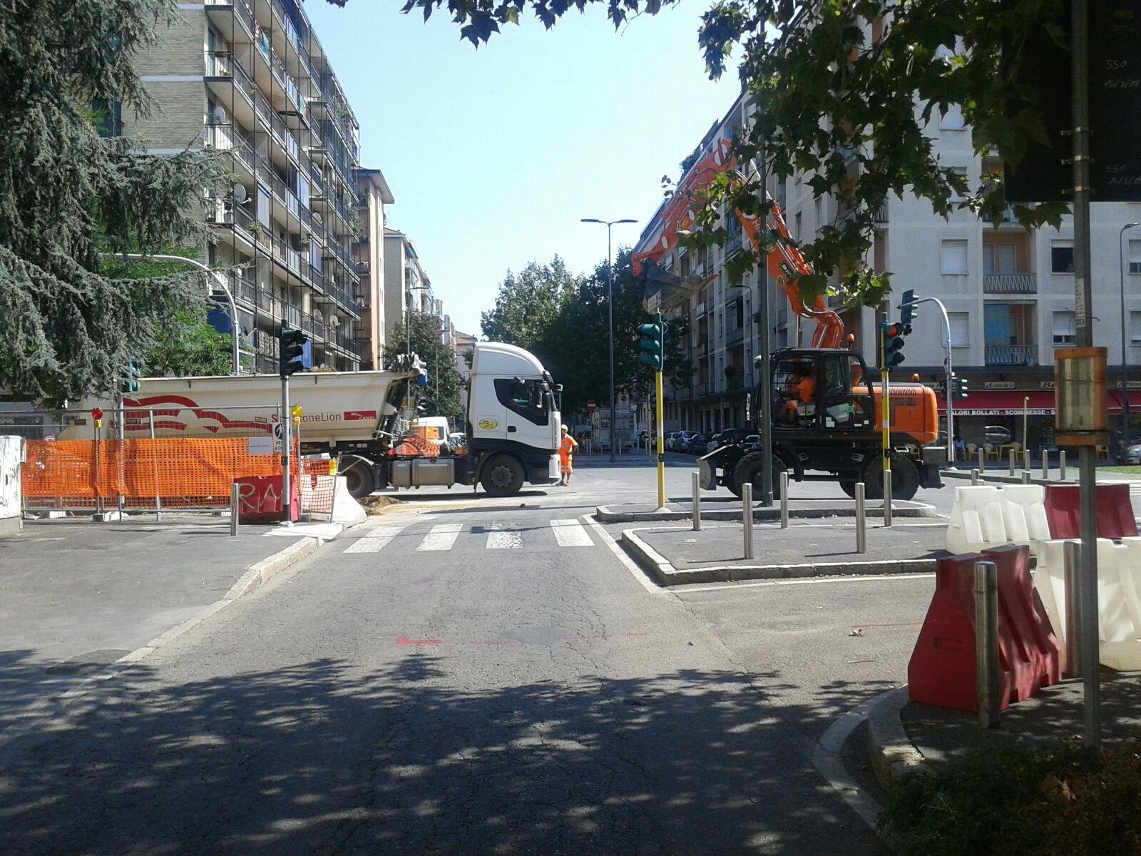 Linee scavo Milano centro