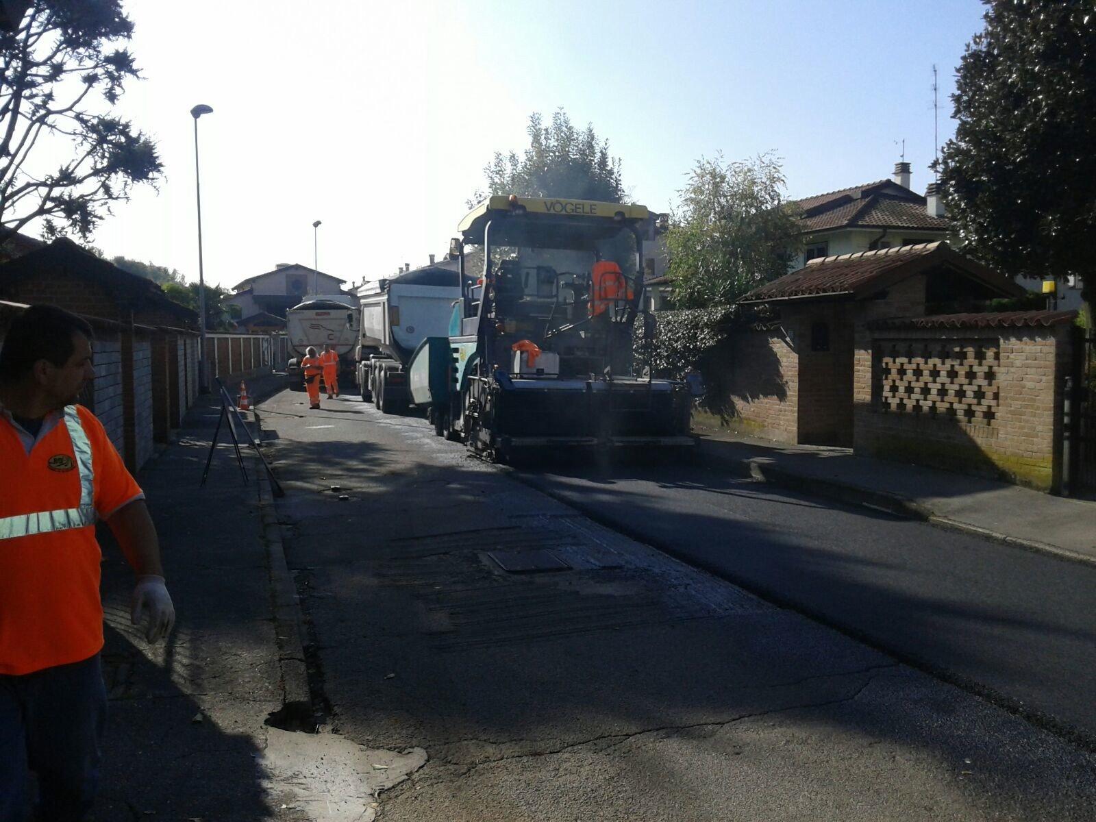 lavori di costruzione in zona residenziale