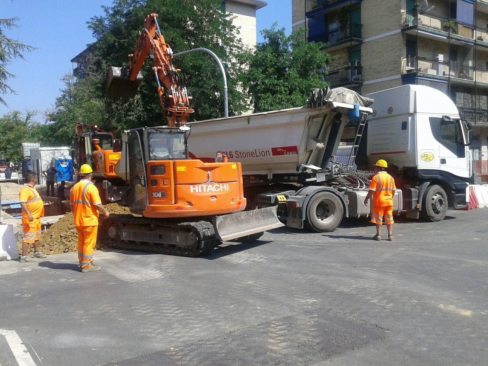 lavori di manutenzione in strada