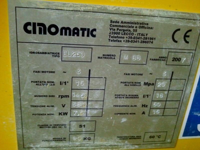 Idrosabbiatrice-Cinomatic-EL250-scheda