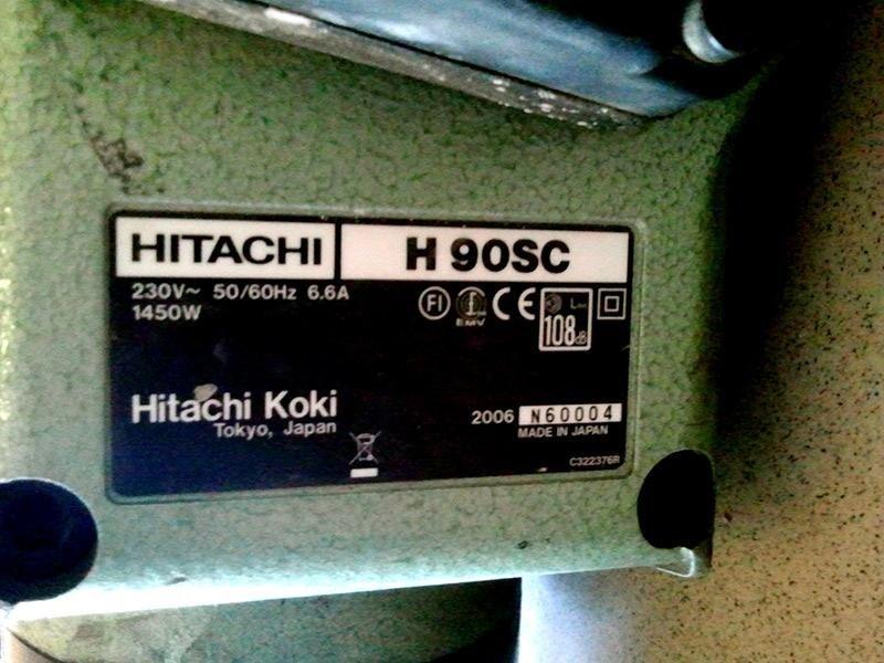 Martello-demolitore-Hitachi---H90SC---targa-modello