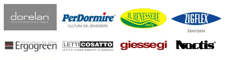 I partner di Tronu Arredamenti Cagliari sono Dorelan, PerDormire, Ergogreen; Cosatto, Noctis, Zigflex, Il Benessere