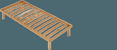 vista angolare di un rete in legno-Ergogreen