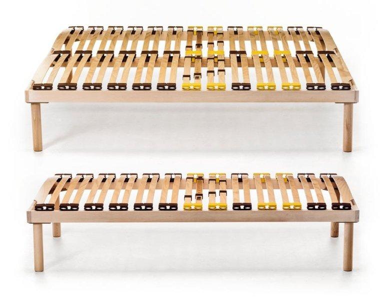 reti letto piazza e mezza legno -Zigflex