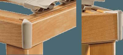 vista angolare di telaio di reto in legno-Ergogreen