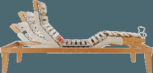 vista laterale di un rete ortopedica a doghe elettrico-Ergogreen
