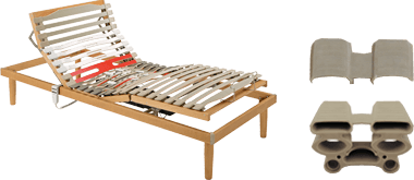 singola rete a doghe elettrica -Ergogreen