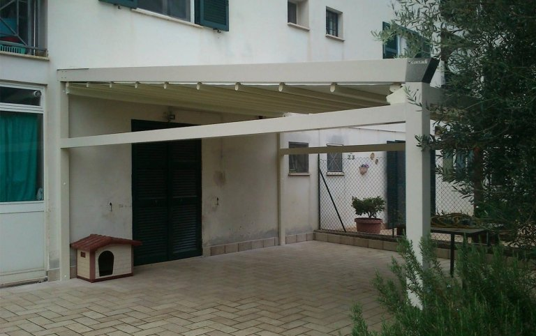 pensiline, pensiline in alluminio, strutture per ristoranti, strutture in legno, cristaltenda, Palombara in Sabina, Roma