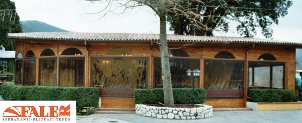 strutture in legno, strutture da esterno per ristoranti, Palombara Sabina, Roma