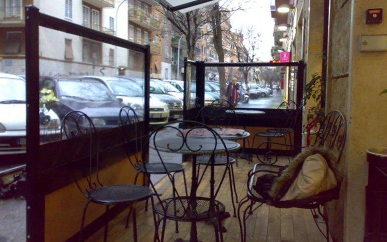 paravento, paraventi, strutture in legno da esterno, coperture da esterno, strutture per locali, strutture in legno per ristoranti, Palombara in Sabina, Roma