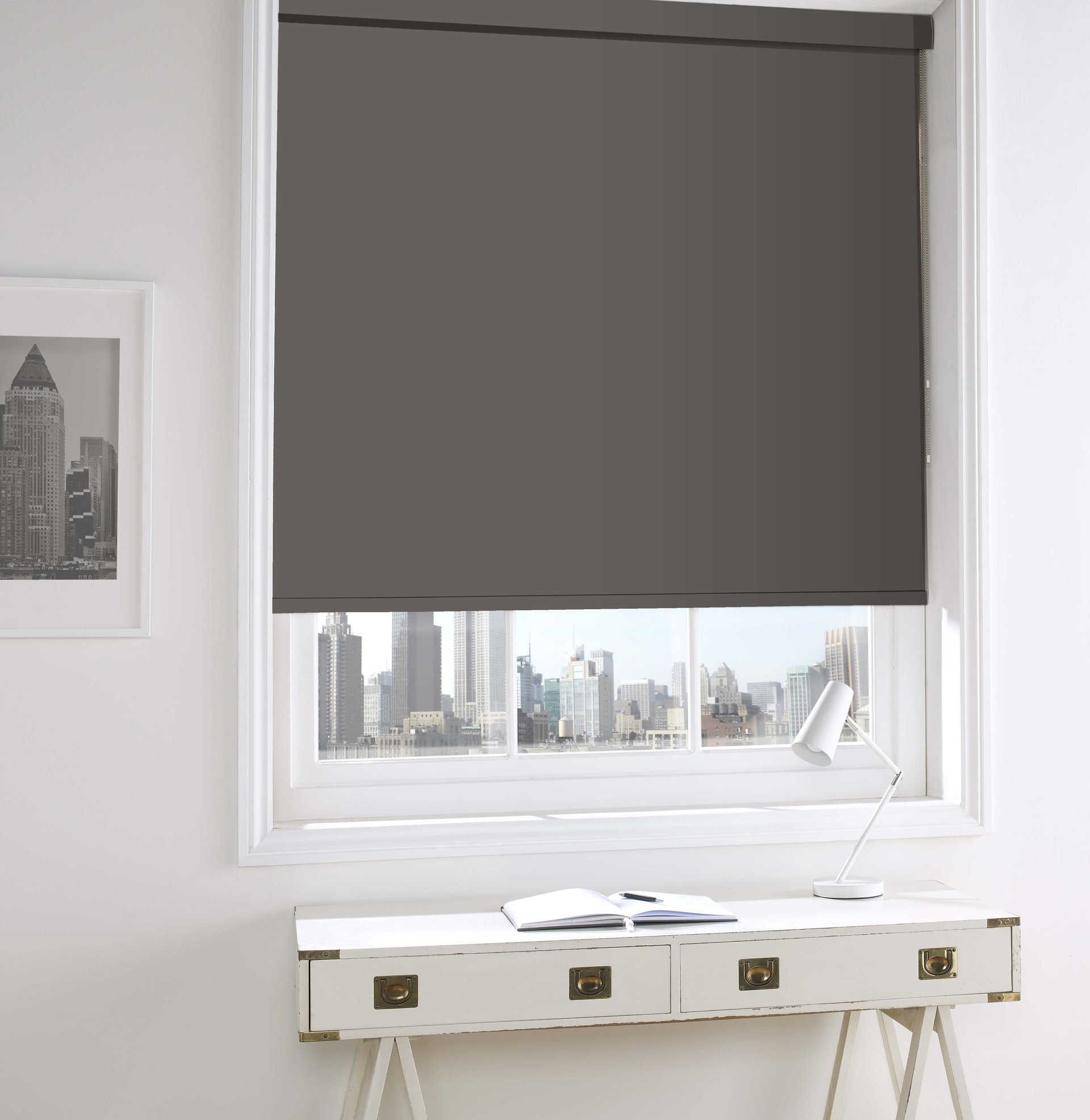grey coloured blinds