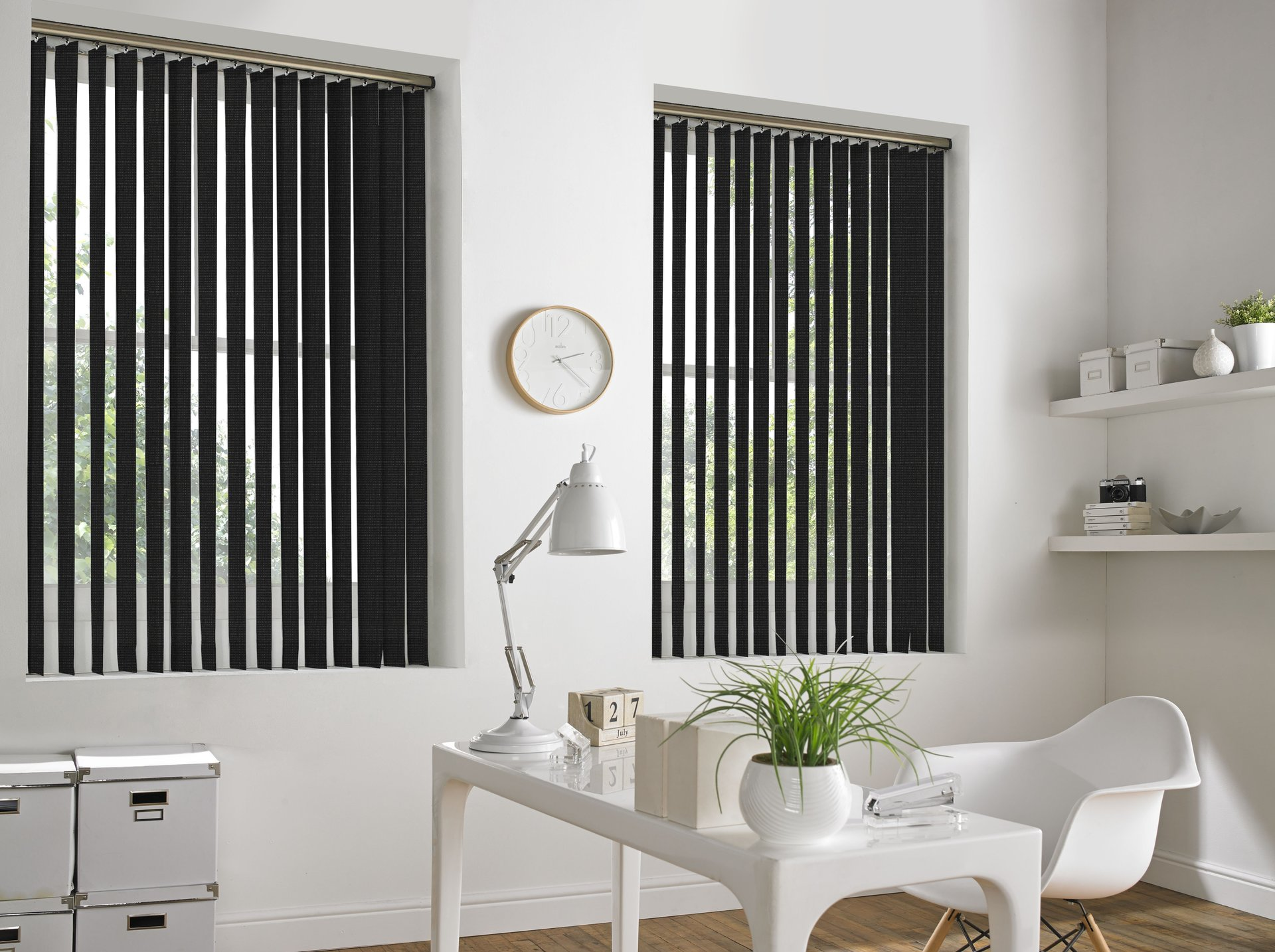 black coloured blinds